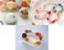 スイーツポケットティッシュBOX、アイスクリームマグネット、紫外線で色が変わるブレスレット500円~